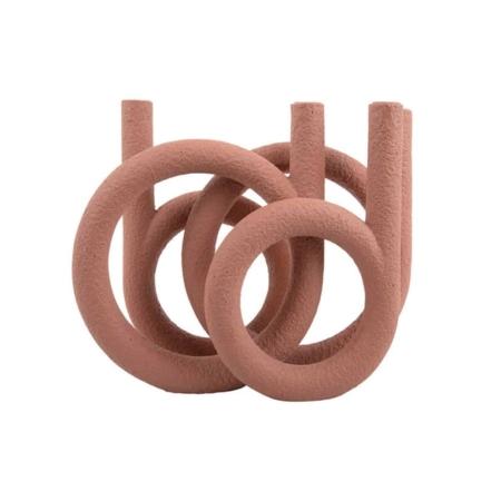 Present Time Rings Kaarsenhouder terracotta
