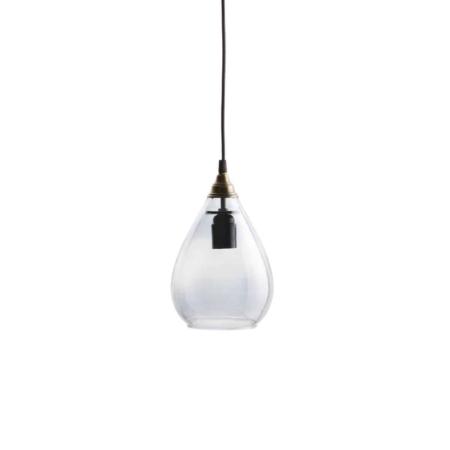 BePureHome Simple hanglamp grijs glas ø15x25cm