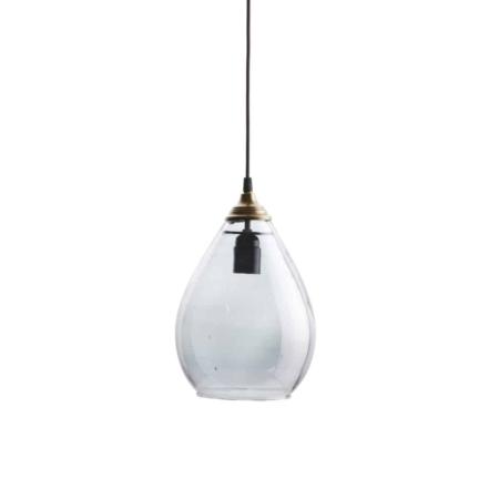 BePureHome Simple hanglamp grijs glas ø18x28cm