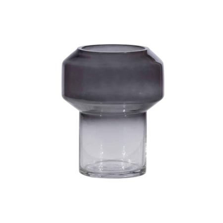 WOOOD Jaxx vaas glas zwart Ø15cm