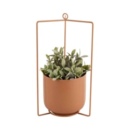 PT Hang plantenpot Spatial vierkant Karamel