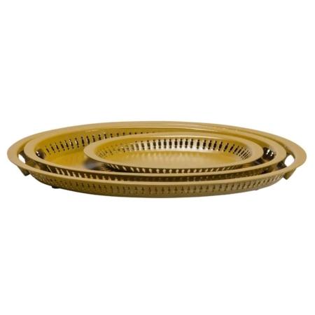 BePureHome Dish dienbladen metaal fudge - set van 3
