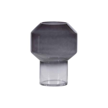 WOOOD Jaxx vaas glas zwart Ø18cm