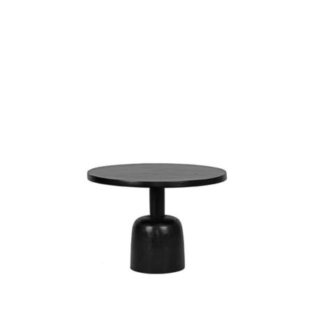 LABEL51 Wink salontafel metaal zwart 50x50x35cm