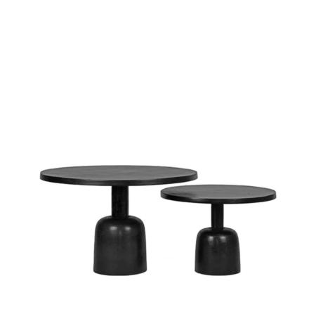 LABEL51 Wink salontafel metaal zwart set van 2