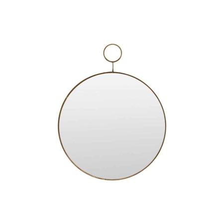 Housedoctor Loop spiegel antique brass ø32cm