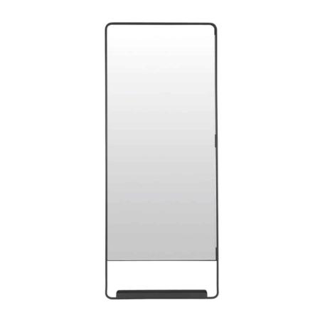 Housedoctor Chic spiegel met plankje metaal zwart 110cm