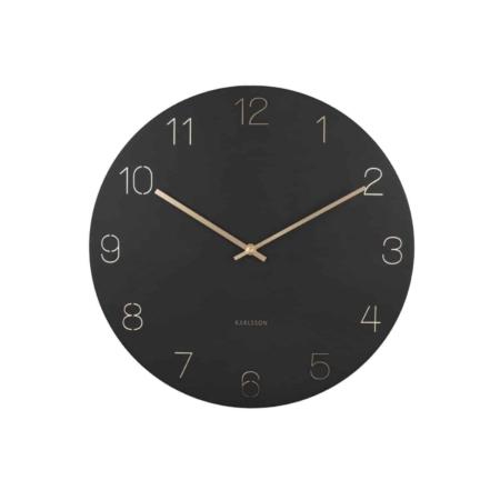 KARLSSON Wandklok Charm Engraved zwart ø40cm