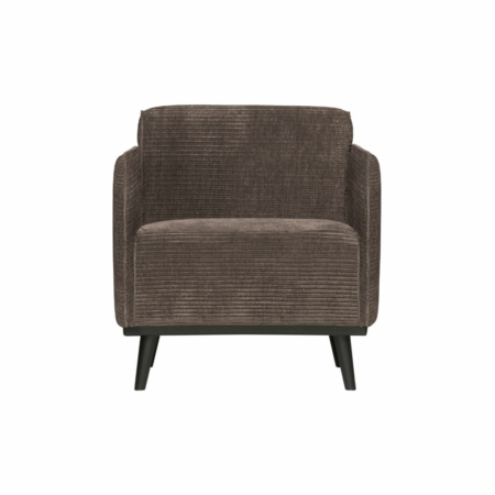 BePureHome Statement fauteuil met arm platte brede rib taupe