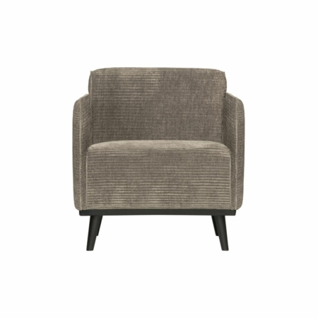 BePureHome Statement fauteuil met arm platte brede rib clay