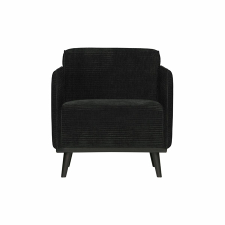 BePureHome Statement fauteuil met arm platte brede rib graphite