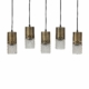 BePureHome Sprinkle hanglamp 5 lampen glas antique brass
