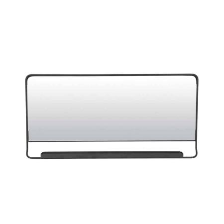 Housedoctor Chic spiegel met plankje metaal zwart 80cm