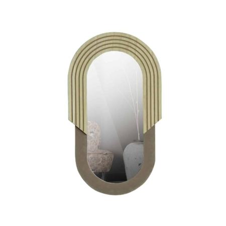 WOOOD Hailey spiegel ovaal naturel 58cm