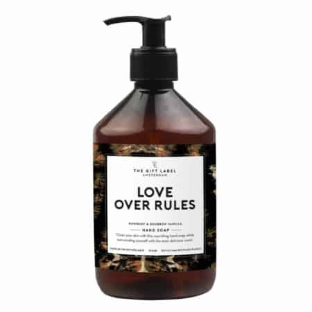 The Gift Label Hand Soap love over rules