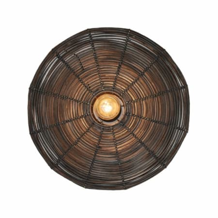 ZES10 Collectie Mataka wandlamp rotan donker bruin ø60cm