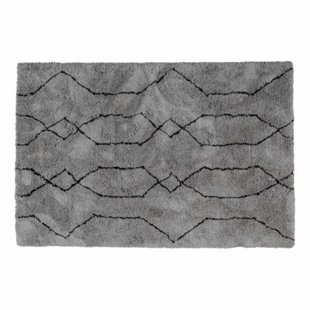 WOOOD Nové vloerkleed lichtgrijs/zwart 200x300cm