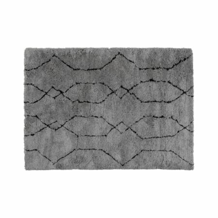 WOOOD Nové vloerkleed lichtgrijs/zwart 170x240cm
