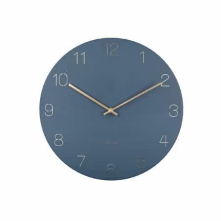 KARLSSON Charm wandklok engraved donkerblauw ø40cm