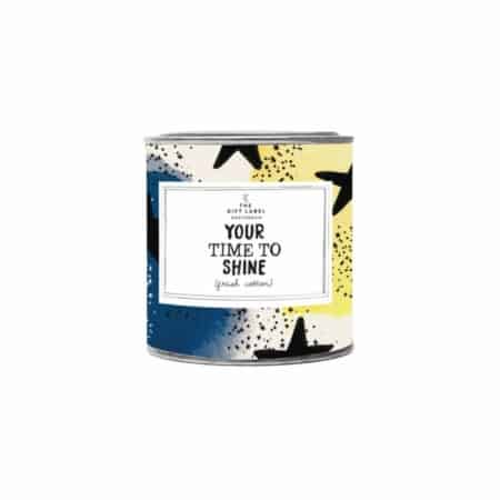 The Gift Label Candle Your time to shine