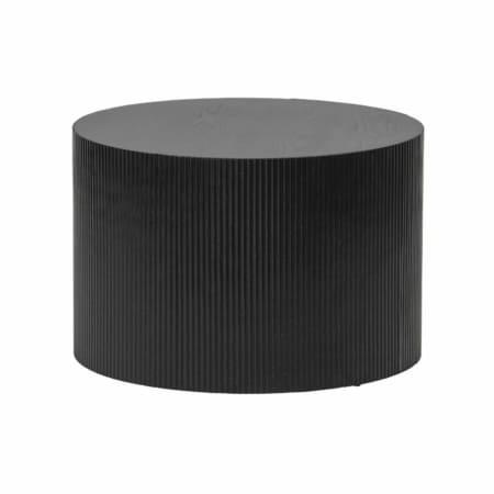 WOOOD Sanne bijzettafel rond zwart ø60cm