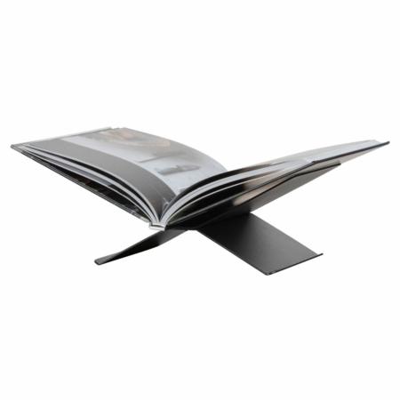 WOOOD Exclusive Brook boekenstandaard liggend metaal zwart