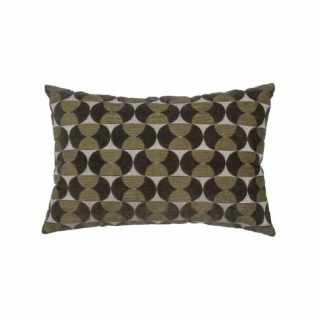 WOOOD Exclusive Pam kussen velvet/borduur cast iron 40x60cm