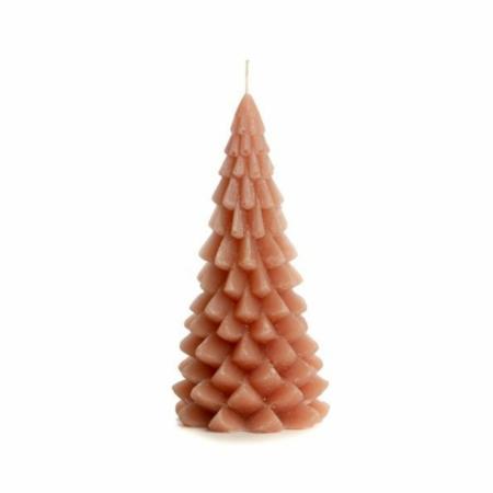 ZES10 Collectie Kerstboom kaars brique 10x20cm