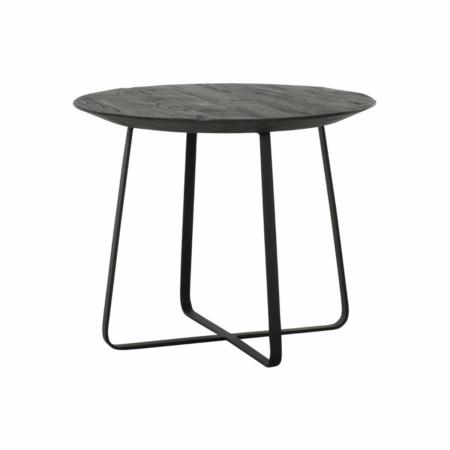 DTP Home Neptunes salontafel teakhout zwart ø50cm