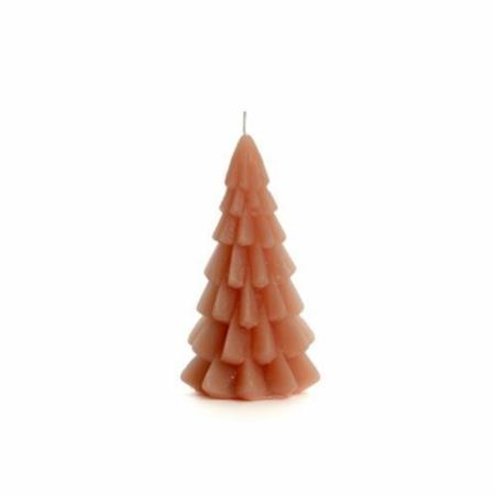 ZES10 Collectie Kerstboom kaars brique 6,3x12cm