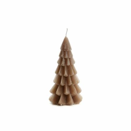 ZES10 Collectie Kerstboom kaars cognac 6,3x12cm