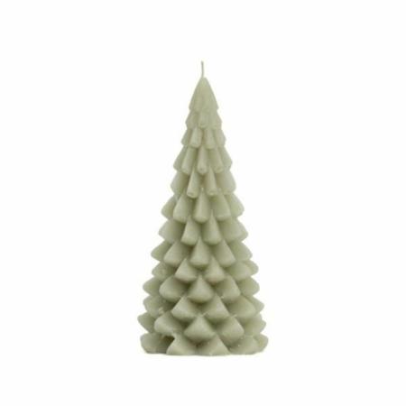 ZES10 Collectie Kerstboom kaars eucalyptus 10x20cm