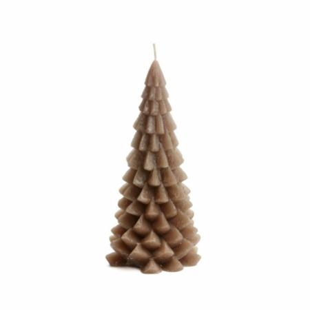 ZES10 Collectie Kerstboom kaars cognac 10x20cm