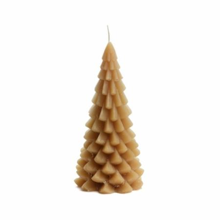 ZES10 Collectie Kerstboom kaars fudge 10x20cm